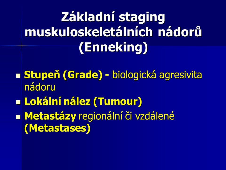 Základní staging muskuloskeletálních nádorů (Enneking)