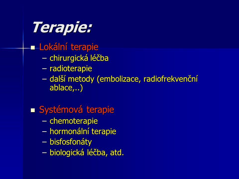 Terapie: Lokální terapie Systémová terapie chirurgická léčba