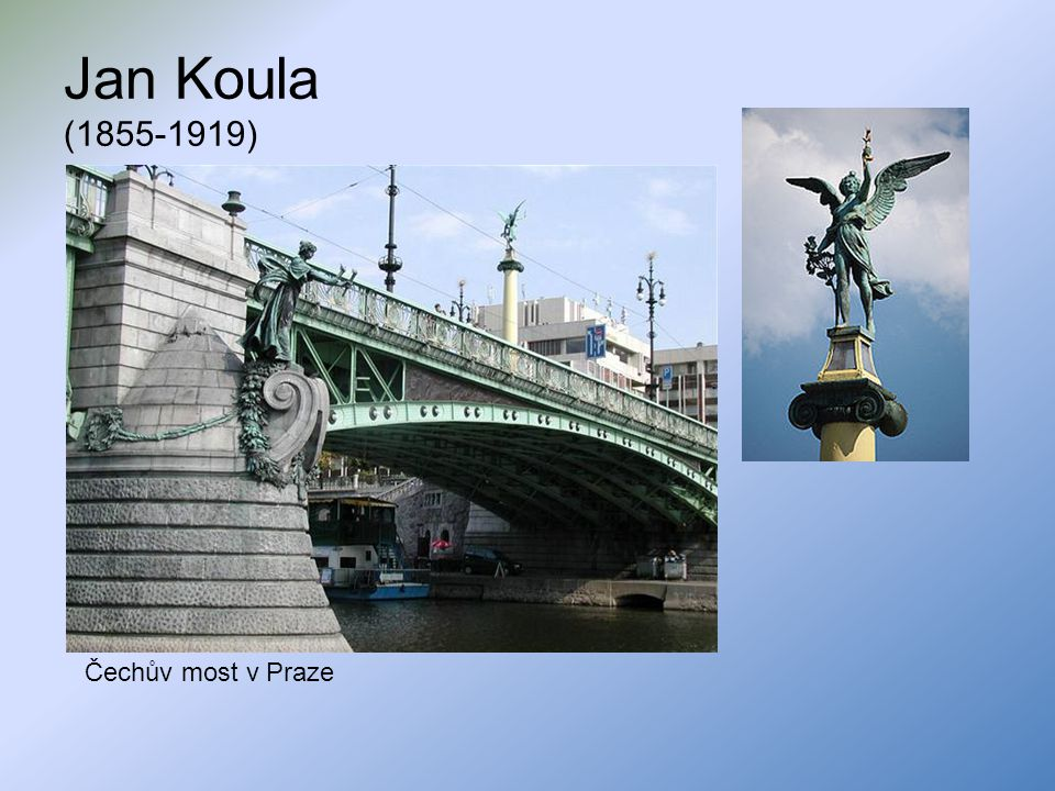 Jan Koula (1855-1919) Čechův most v Praze