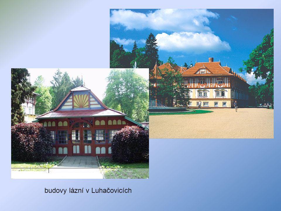 budovy lázní v Luhačovicích