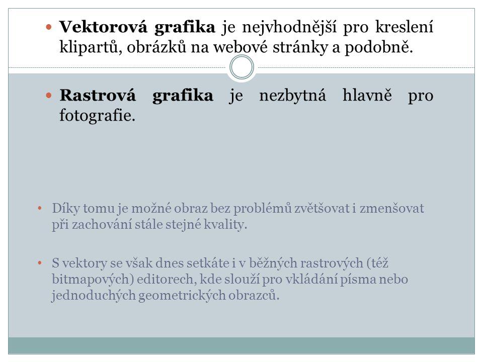 Rastrová grafika je nezbytná hlavně pro fotografie.