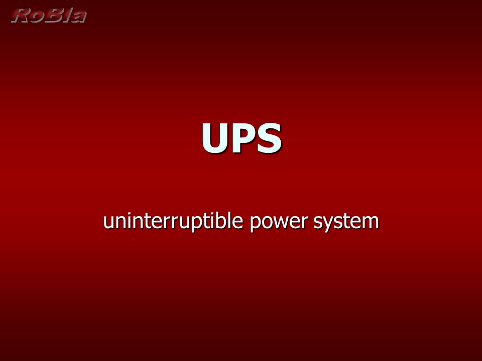 uninterruptible power system
