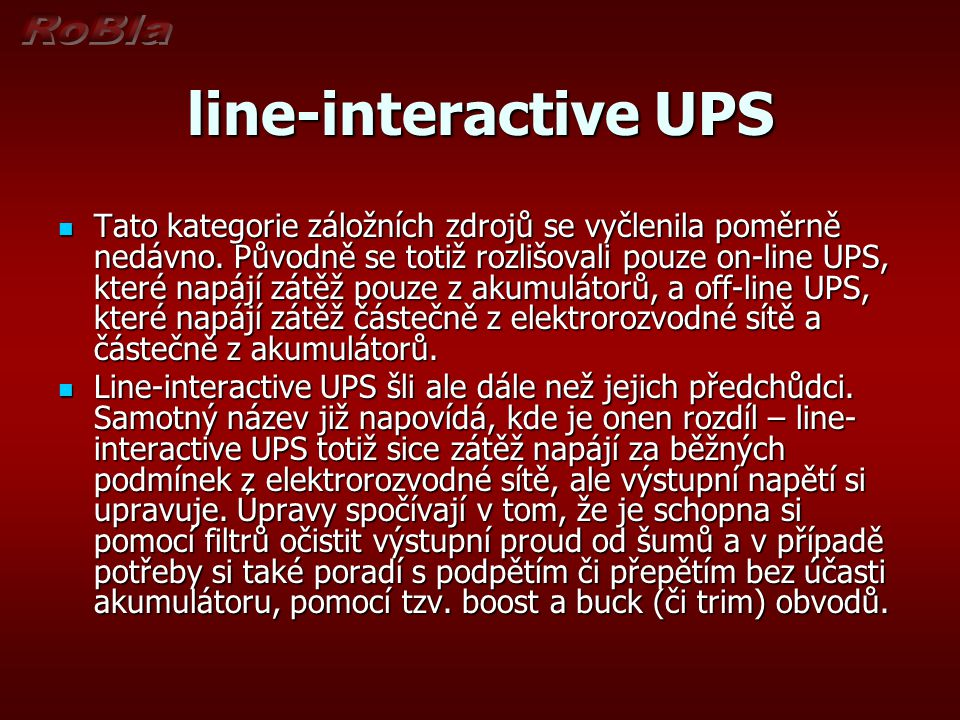 line-interactive UPS