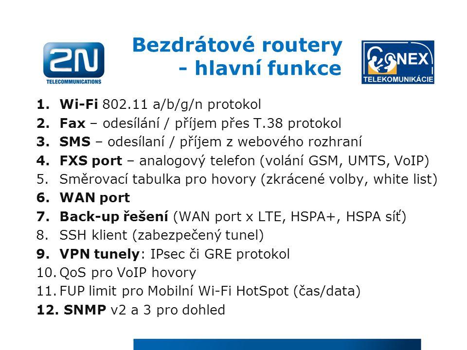 Bezdrátové routery - hlavní funkce