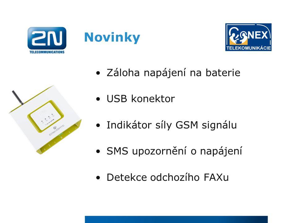 Novinky Záloha napájení na baterie USB konektor