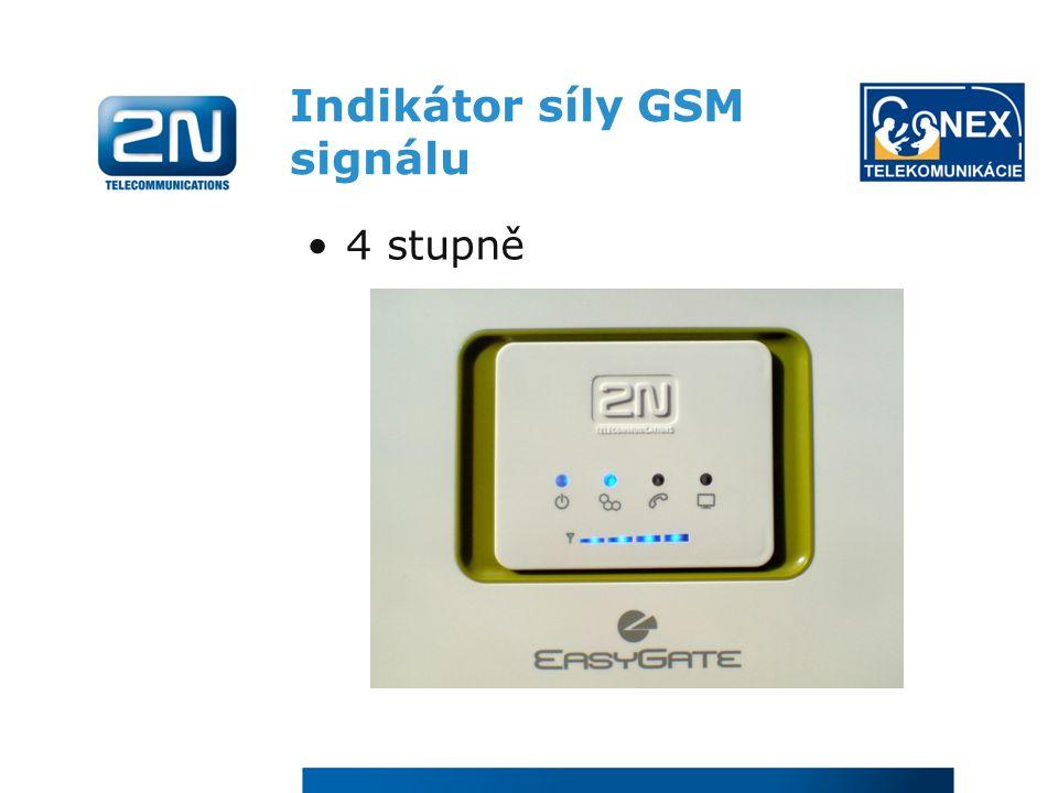 Indikátor síly GSM signálu
