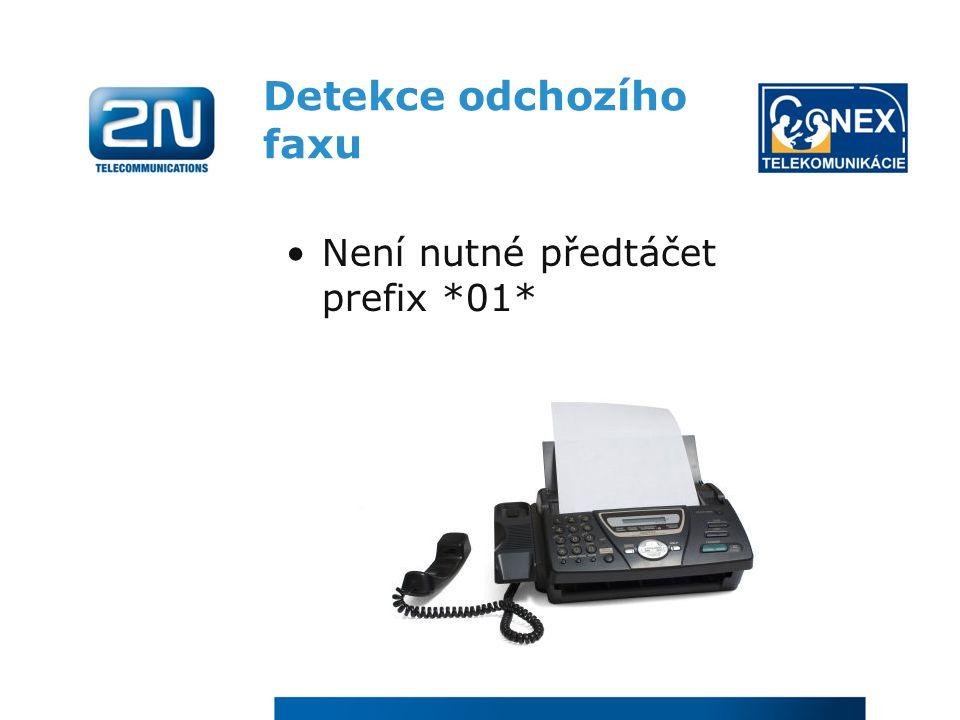 Detekce odchozího faxu