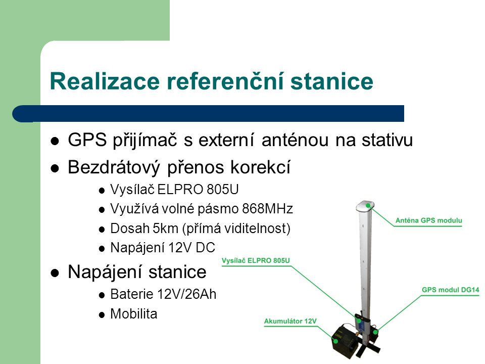 Realizace referenční stanice