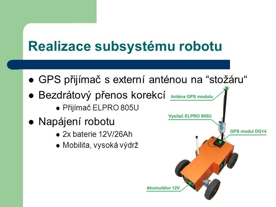 Realizace subsystému robotu