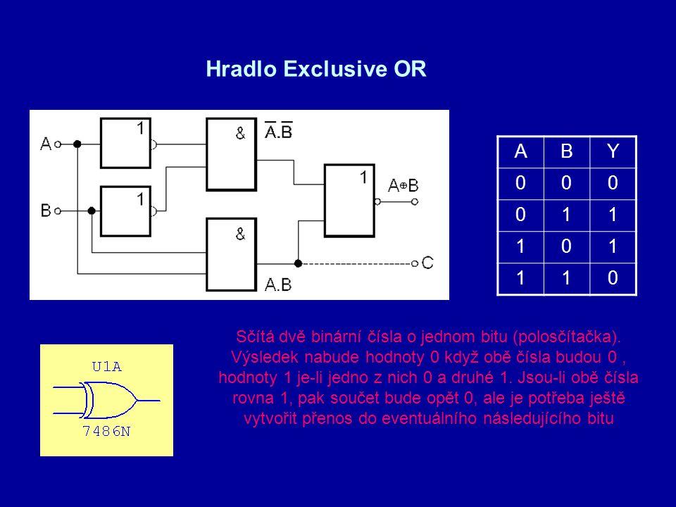 Hradlo Exclusive OR A B Y 1