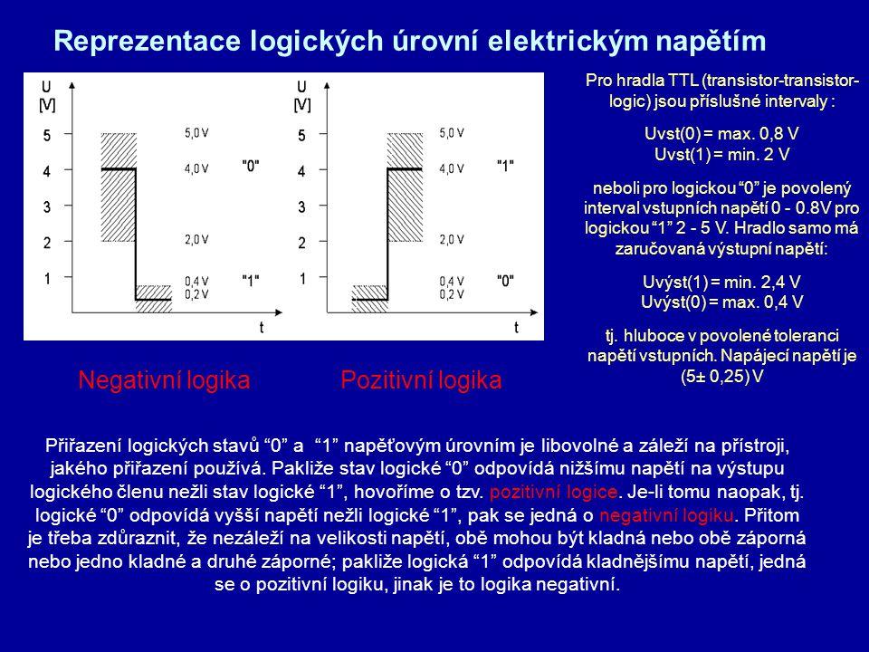 Reprezentace logických úrovní elektrickým napětím