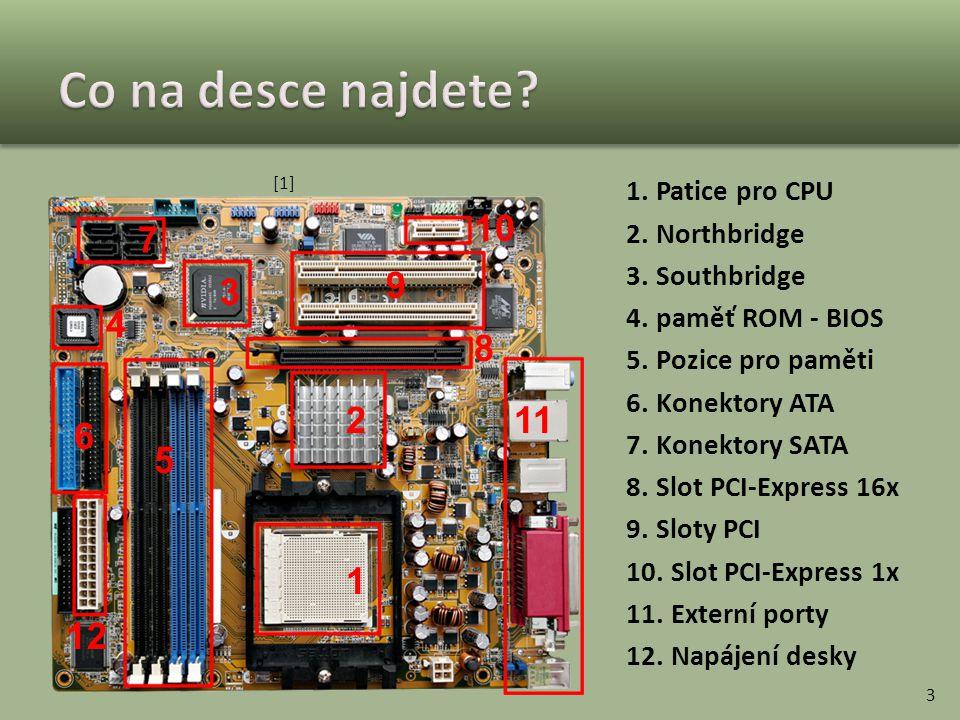 Co na desce najdete 10 7 9 3 4 8 2 11 6 5 1 12 Patice pro CPU