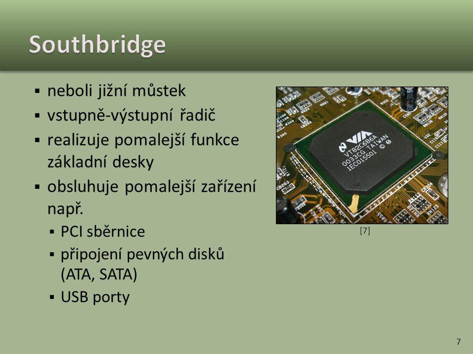 Southbridge neboli jižní můstek vstupně-výstupní řadič