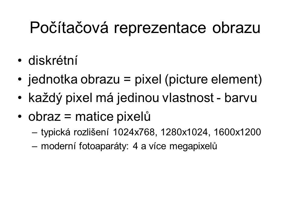 Počítačová reprezentace obrazu