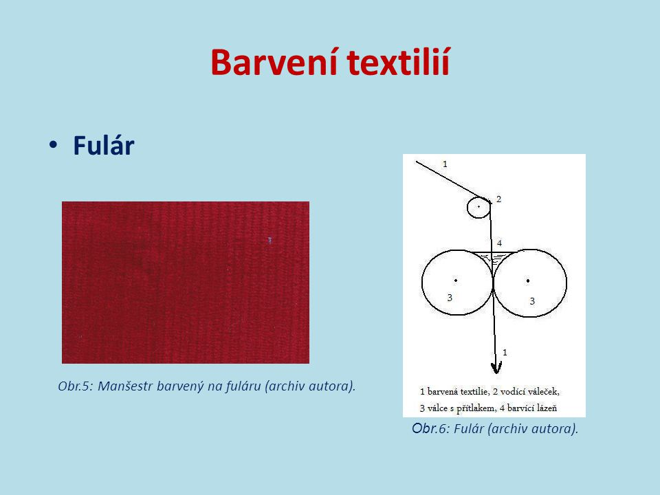 Barvení textilií Fulár