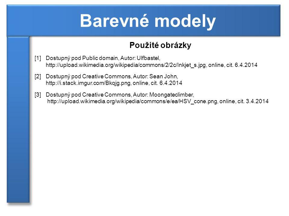 Barevné modely Použité obrázky