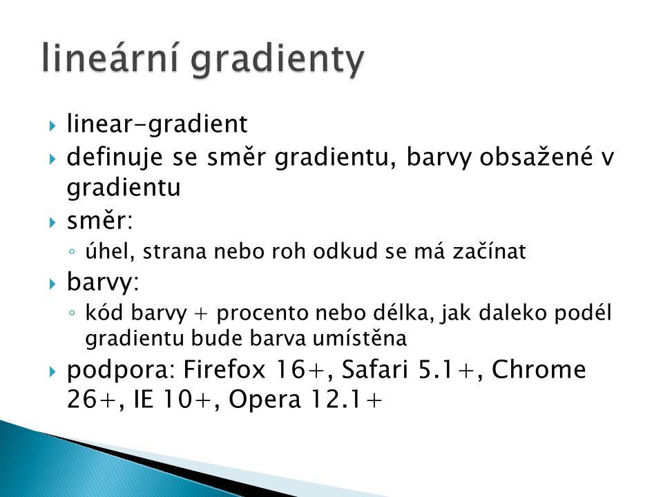 lineární gradienty linear-gradient