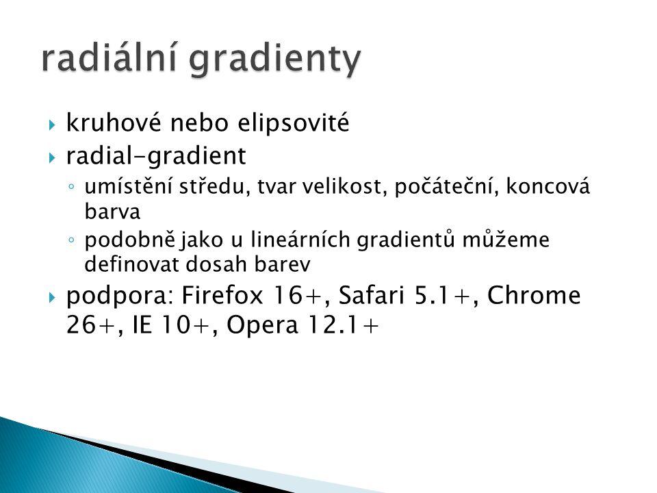 radiální gradienty kruhové nebo elipsovité radial-gradient