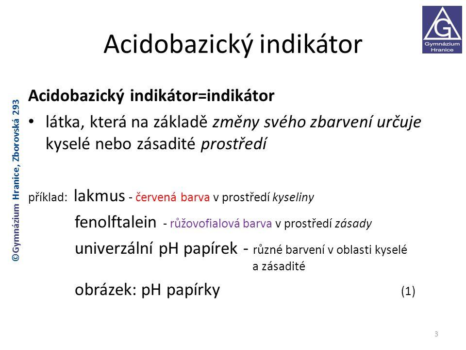 Acidobazický indikátor