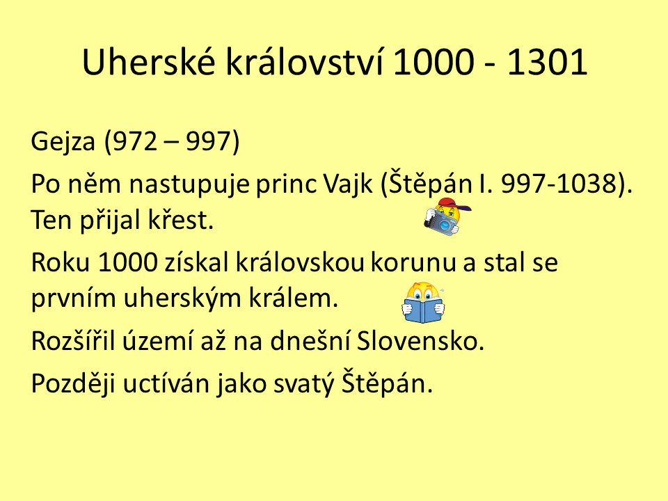 Uherské království 1000 - 1301