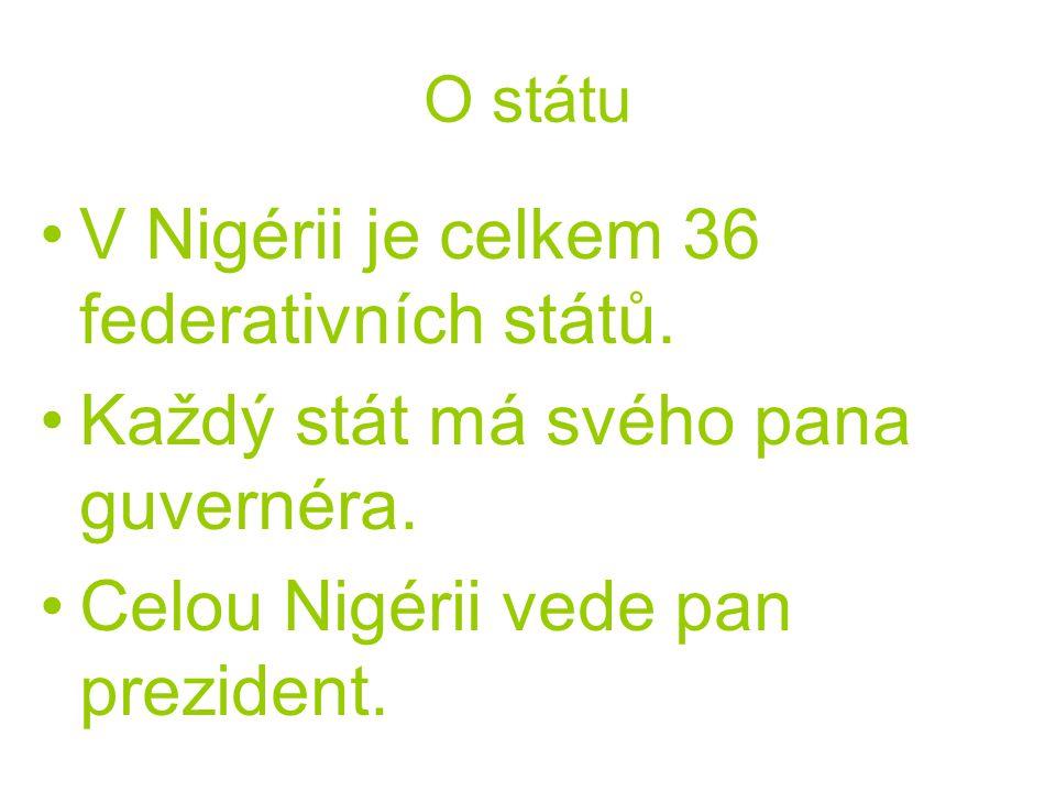 V Nigérii je celkem 36 federativních států.
