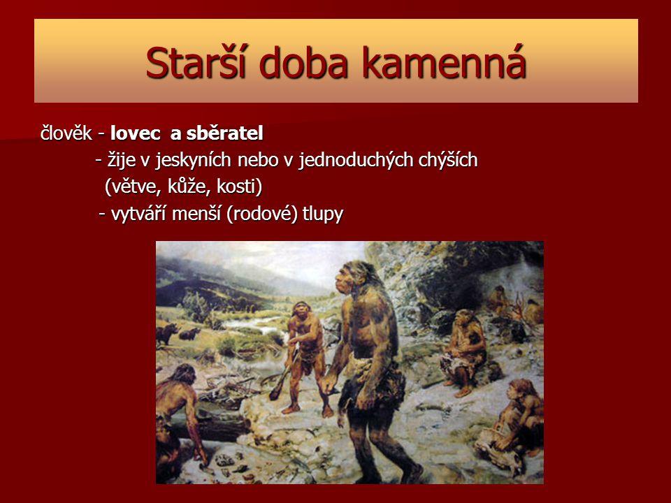 Starší doba kamenná člověk - lovec a sběratel