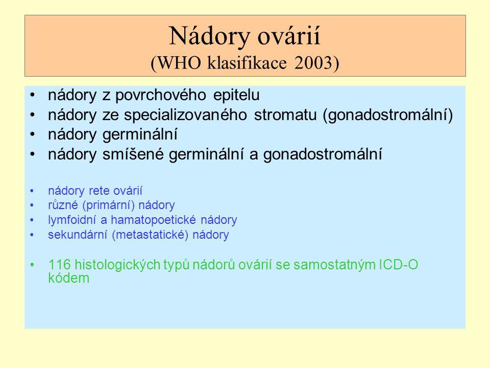 Nádory ovárií (WHO klasifikace 2003)