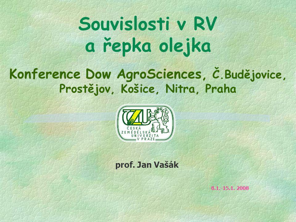 Souvislosti v RV a řepka olejka Konference Dow AgroSciences, Č