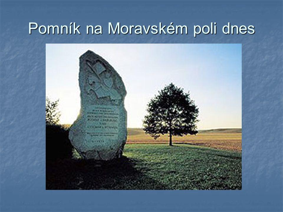 Pomník na Moravském poli dnes