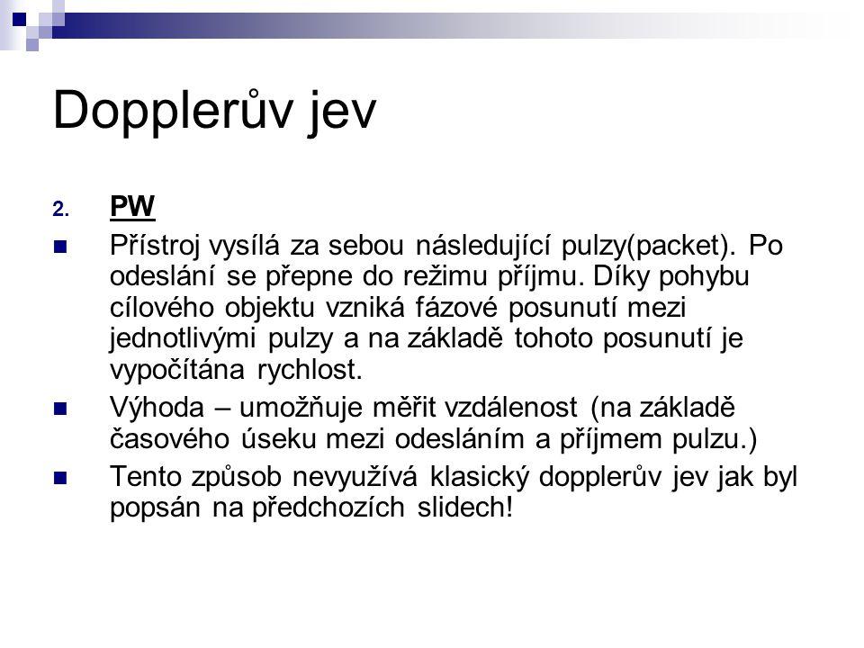 Dopplerův jev PW.