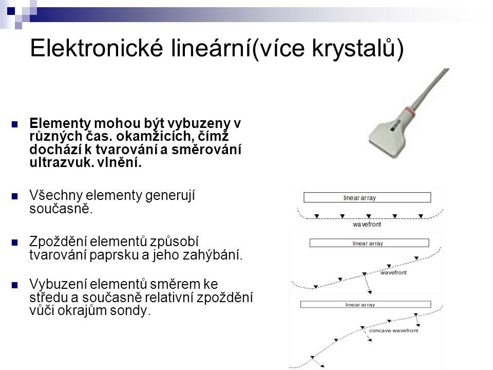 Elektronické lineární(více krystalů)