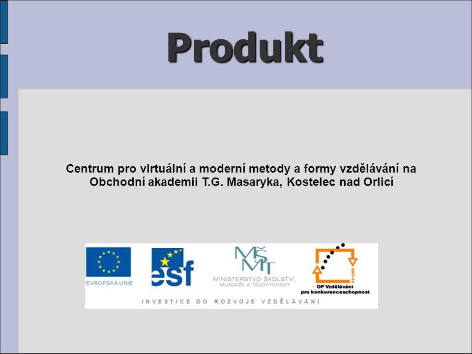 Produkt Centrum pro virtuální a moderní metody a formy vzdělávání na