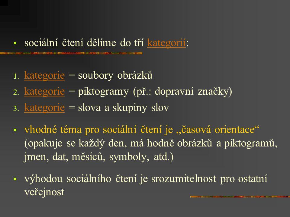 sociální čtení dělíme do tří kategorií: