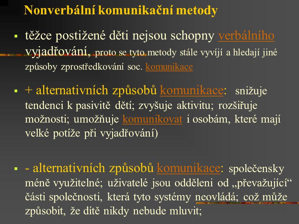 Nonverbální komunikační metody