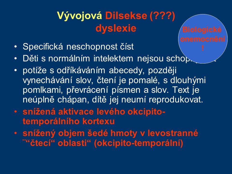 Vývojová Dilsekse ( ) dyslexie