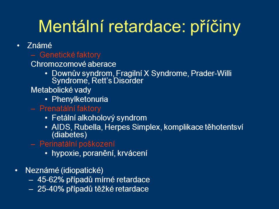 Mentální retardace: příčiny