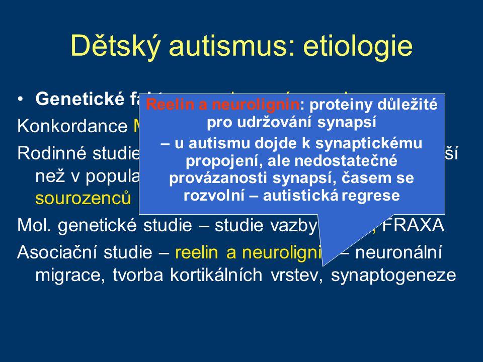 Dětský autismus: etiologie