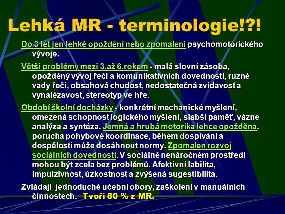 Lehká MR - terminologie! !