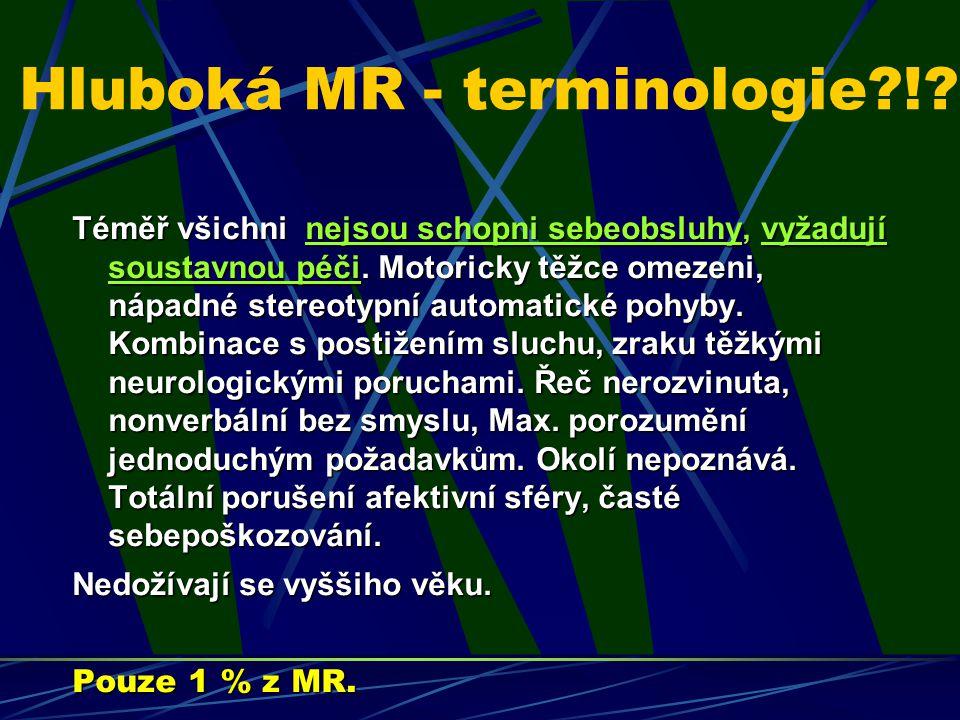 Hluboká MR - terminologie !