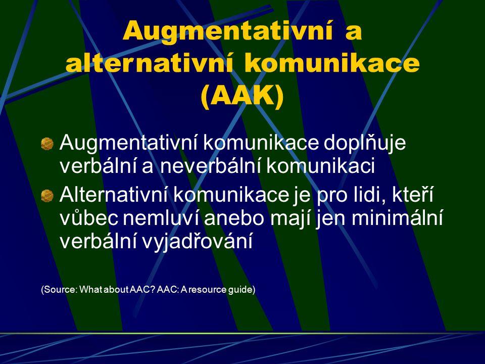 Augmentativní a alternativní komunikace (AAK)