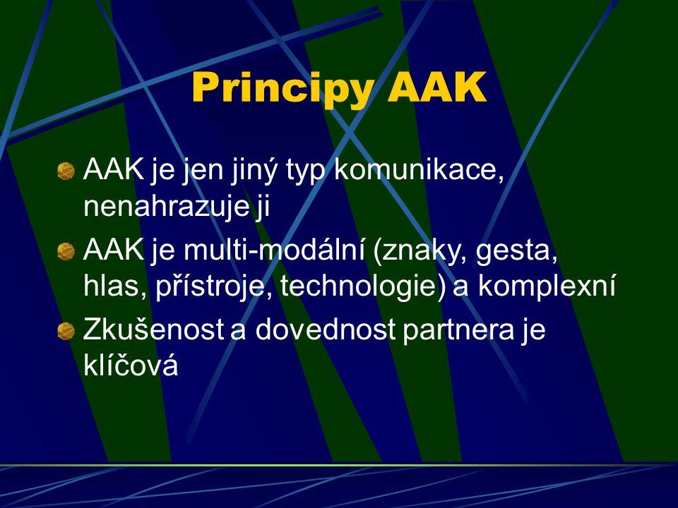 Principy AAK AAK je jen jiný typ komunikace, nenahrazuje ji