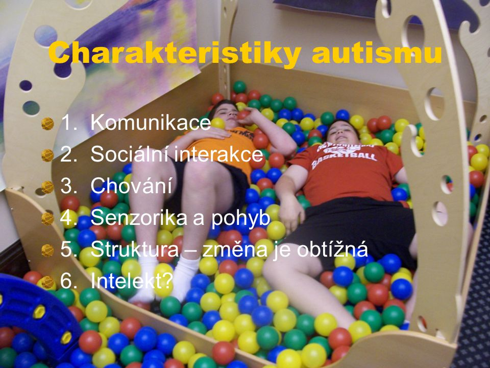 Charakteristiky autismu