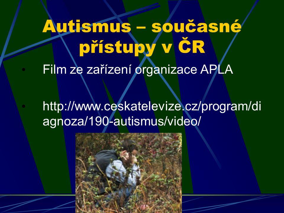 Autismus – současné přístupy v ČR