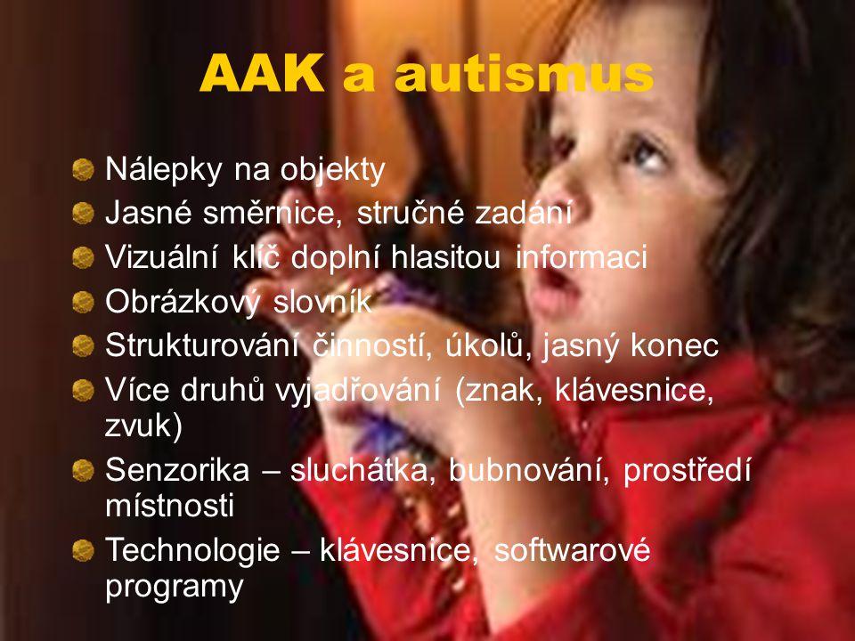 AAK a autismus Nálepky na objekty Jasné směrnice, stručné zadání