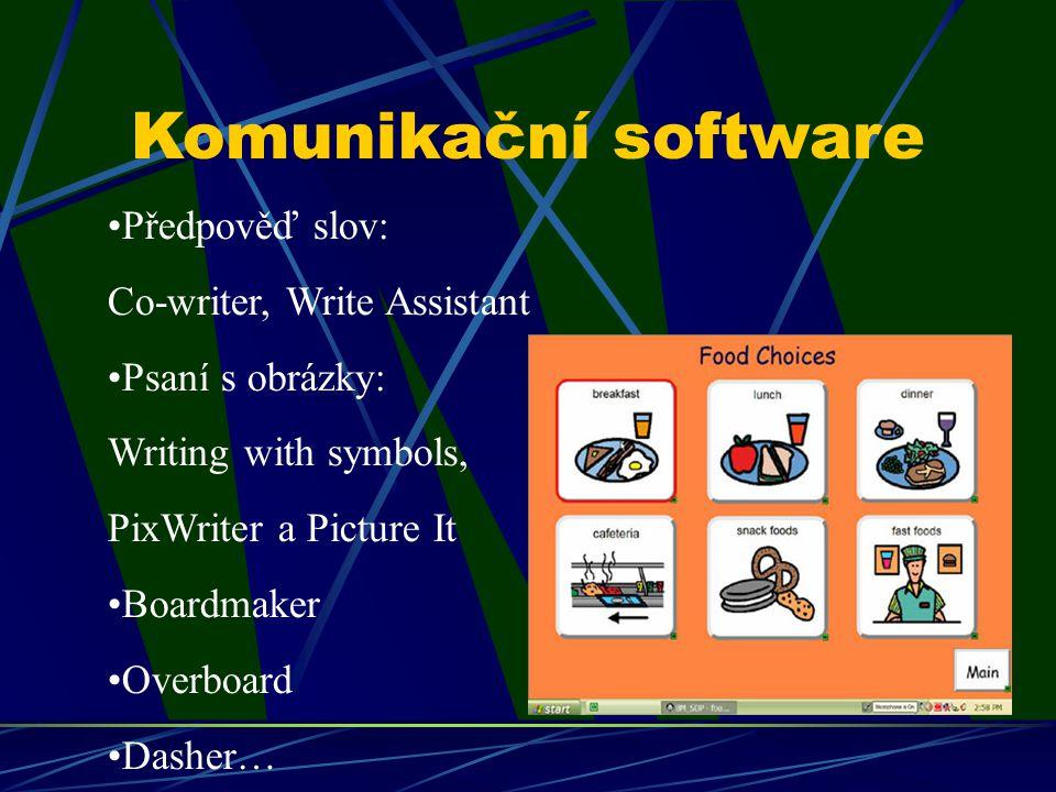 Komunikační software Předpověď slov: Co-writer, Write Assistant