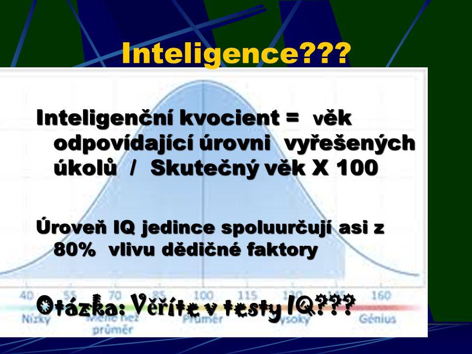 Inteligence Otázka: Věříte v testy IQ
