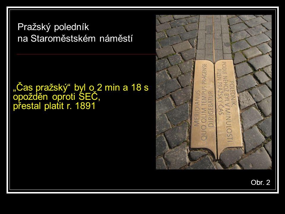 Pražský poledník na Staroměstském náměstí