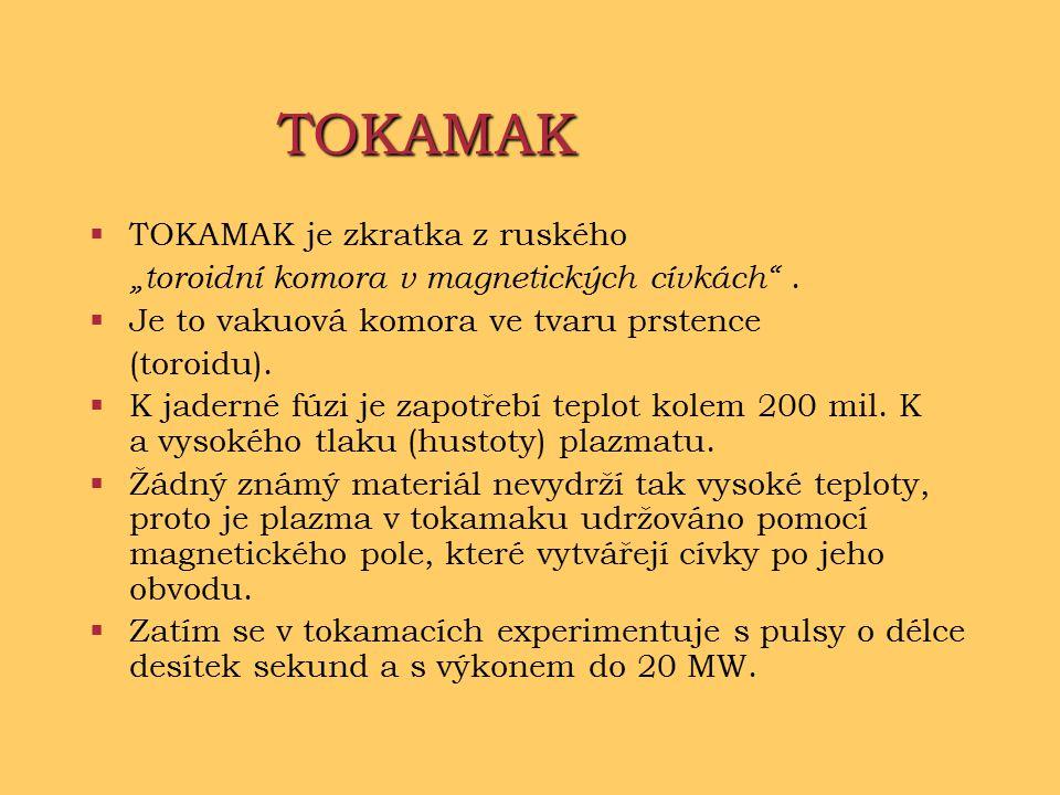 TOKAMAK TOKAMAK je zkratka z ruského