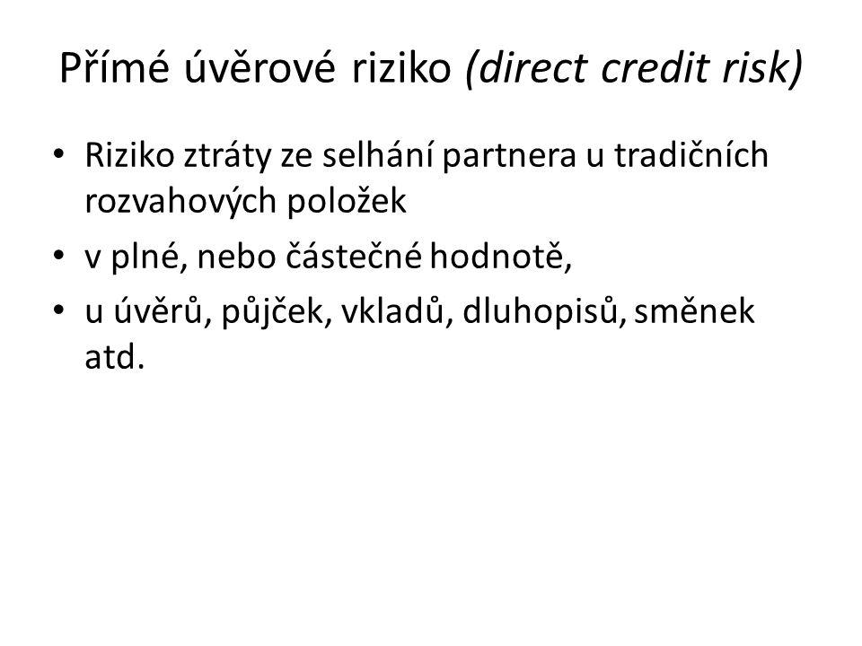 Přímé úvěrové riziko (direct credit risk)
