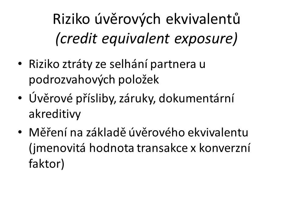 Riziko úvěrových ekvivalentů (credit equivalent exposure)